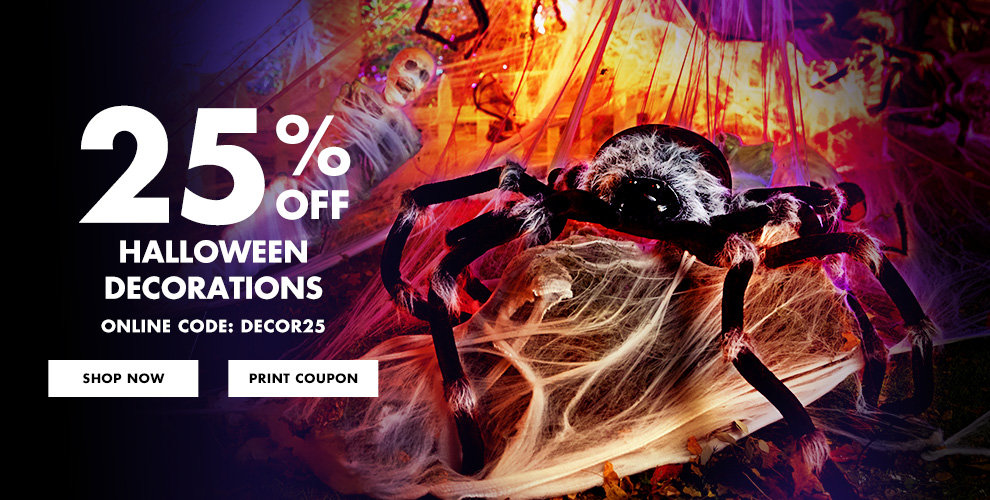 25% off All Halloween Decorations Use Online Code:DECOR25