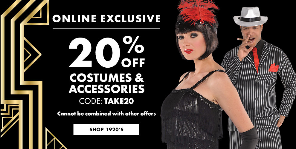 20% off 1920's Costumes & Accessories Shop Now