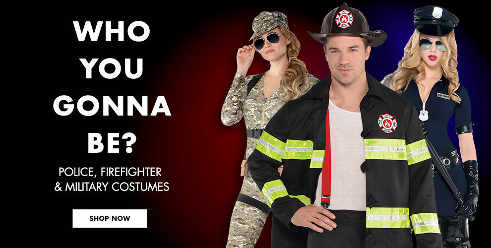 Who You Gonna Be? Police, FireFighter & Military, Sexy Career Costumes Shop Now
