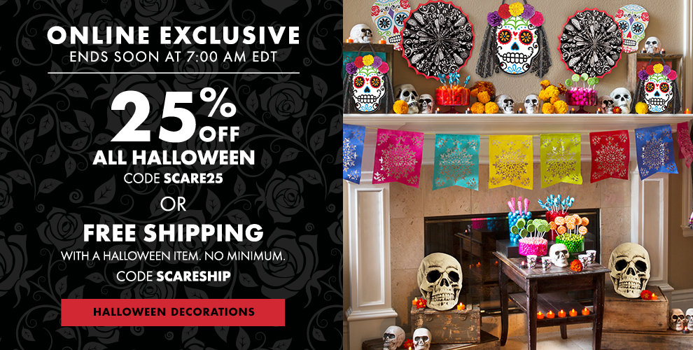 Day of the Dead Halloween Decorations Starting at $1.99