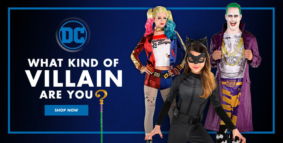 DC Villians Costumes What Kind of Villain Are You? Shop Now