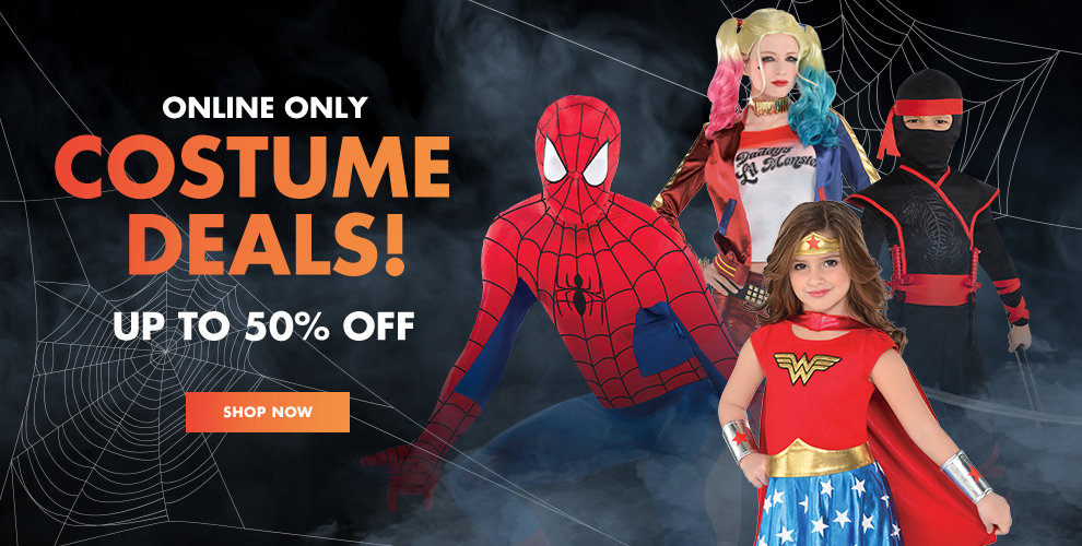 Online Only Costume Deals! Up to 50% off Shop Now