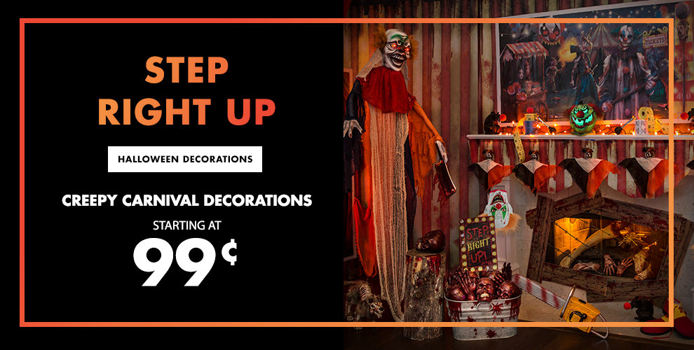 Creepy Carnival Halloween Decorations Starting at 99¢