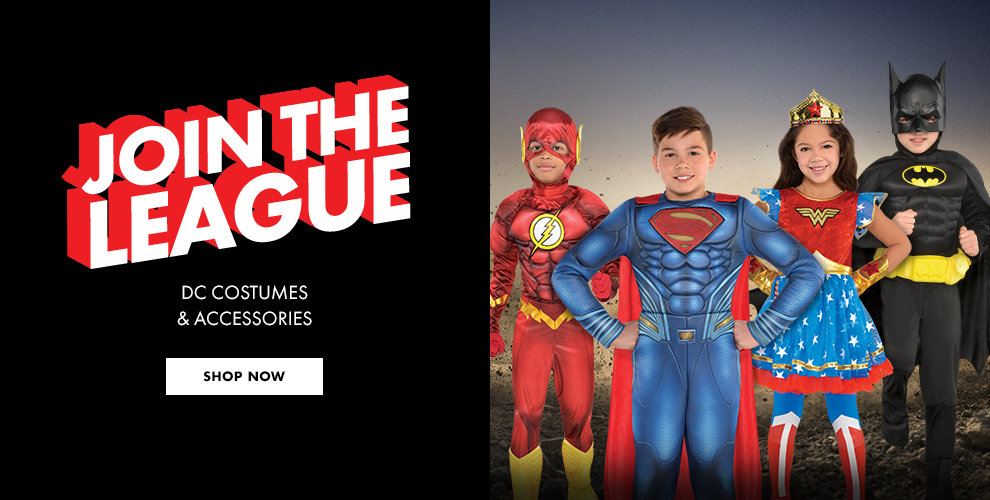Justice Leauge Costumes & Accessories Shop Now