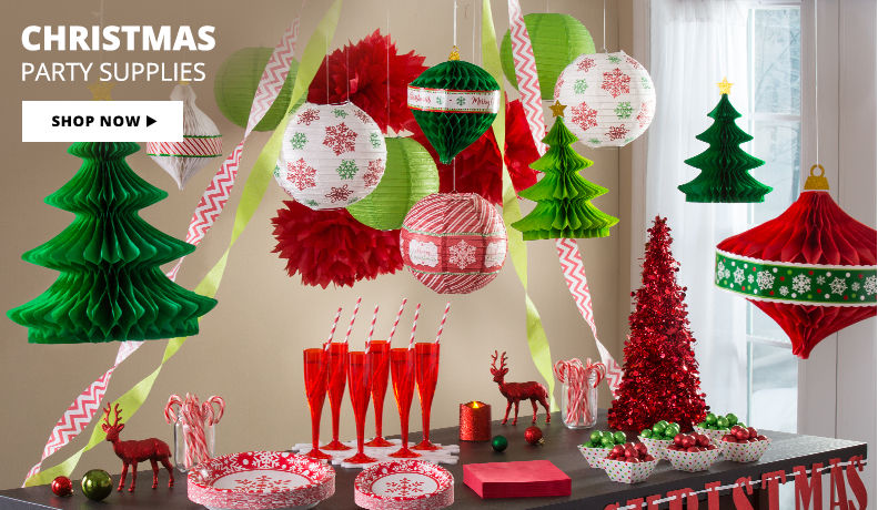 Christmas Party Supplies Shop Now