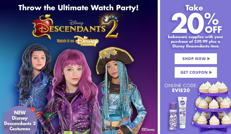 Descendants 2 Party Supplies