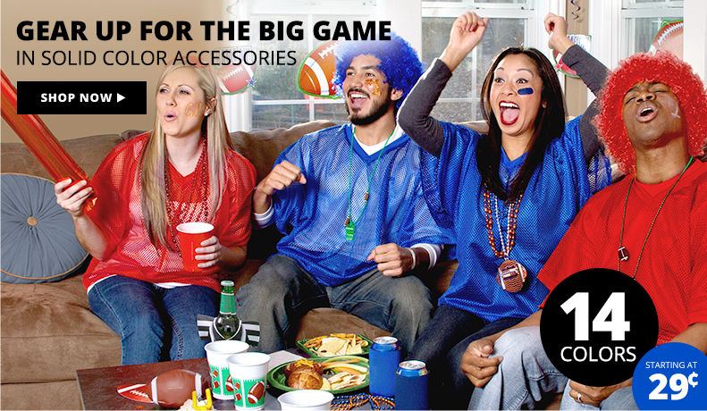 Gear up for the Big Game In Solid Color Accessories Shop Now