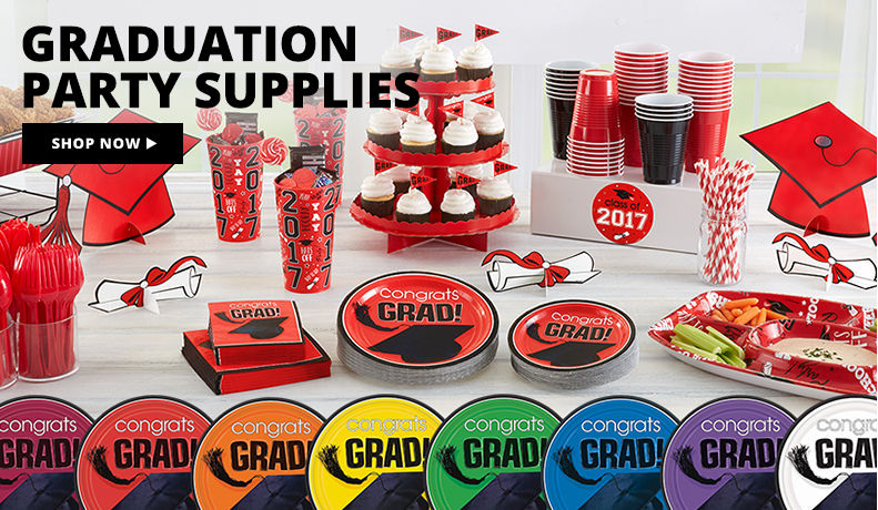 Super Value Grad Party Kits – 40 Guests $34.99, 120 Guests $99.99 Shop Now