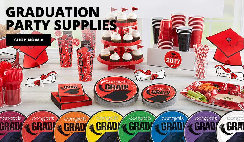Super Value Grad Party Kits – 40 Guests $34.99, 120 Guests $99.99 Shop Now