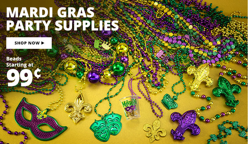 Mardi Gras Party Supplies Shop Now Beads Starting at 99¢
