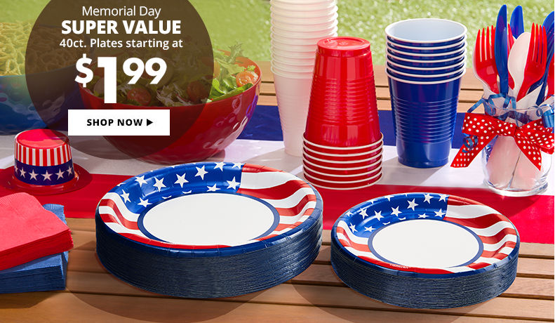 Memorial Day Party Supplies