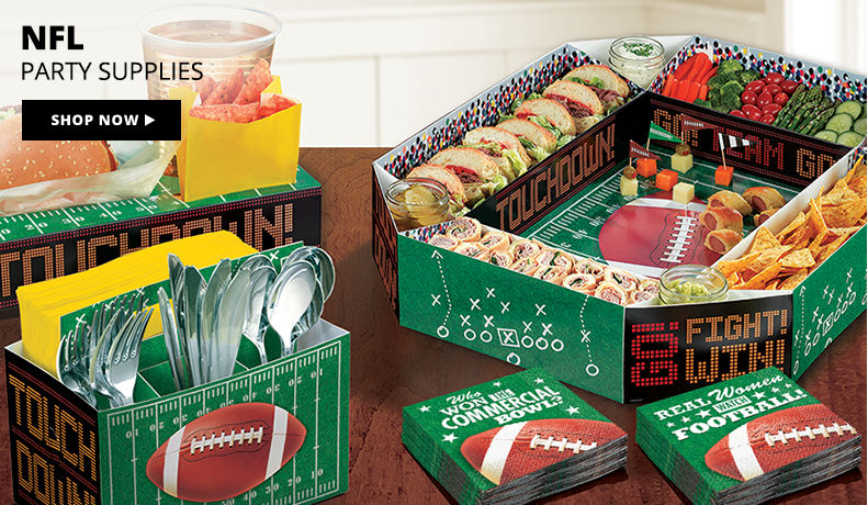 NFL Party Supplies Shop Now