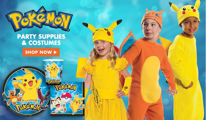 Pokemon Party Supplies and Costumes