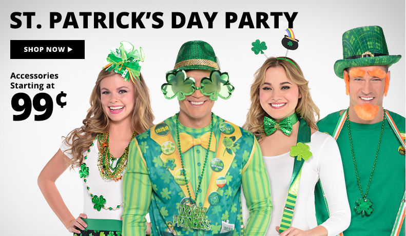 St. Patrick's Day Costumes & Accessories Shop Now Accessories starting at 99¢