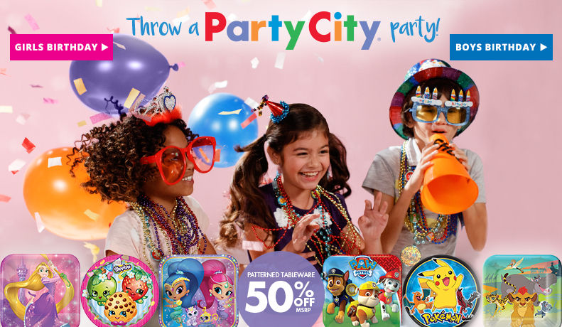 Birthday Party Supplies 50% off Patterned Tableware MSRP Shop Now