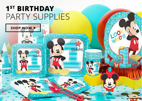 Shop Now Mickey Mouse 1st Birthday Party Supplies