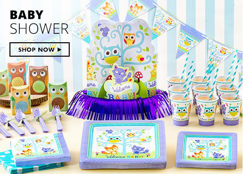 Shop Now Baby Shower Party Supplies