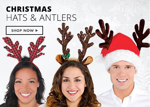 Shop Now Christmas Hats, Reindeer Antlers, Headbands
