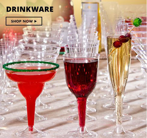 Drinkware - Plastic Cups & Stemware Shop Now