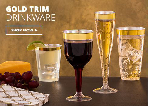 Gold Trim Drinkware