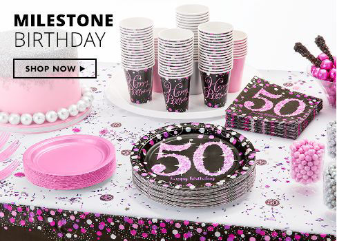 Shop Now Milestone Birthday Party Supplies