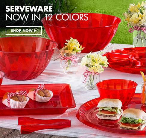 Serving Trays, Platters, Bowls & Utensils