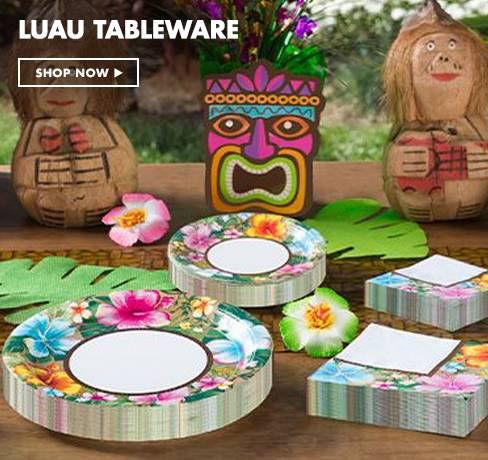 Luau Tableware