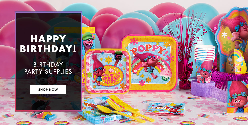 Birthday Party Supplies Shop Now