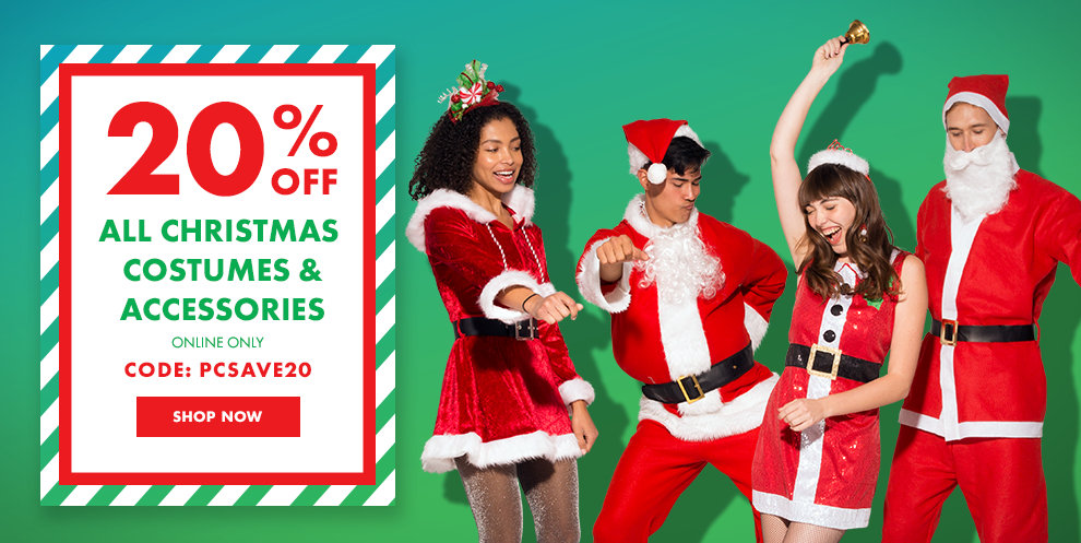 Christmas Costumes & Accessories - 20%off