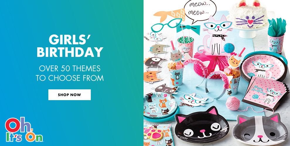 Girls' Birthday Over 50 Themes to Choose from Shop Now