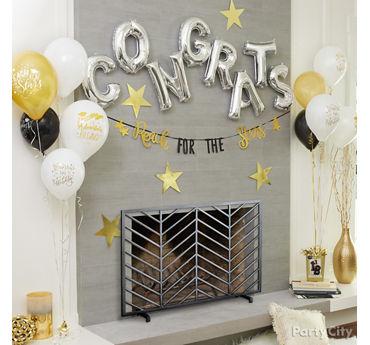 Graduation Letter Balloons Idea