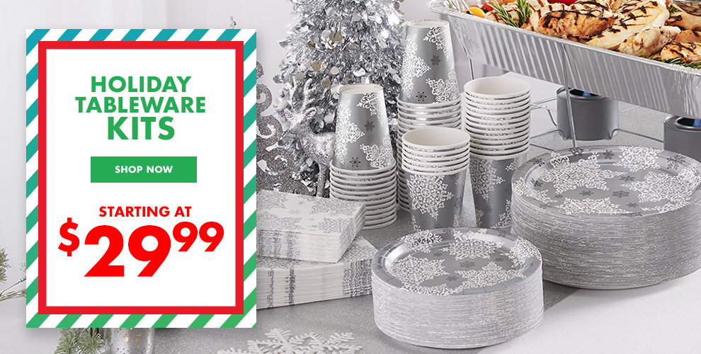 Holiday Tableware Kits Starting at $29.99 Shop Now