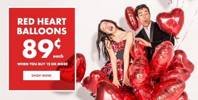 Red Heart Balloons Starting At 89¢ When You Buy 12 Or More Shop ...