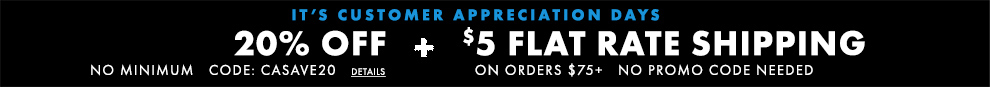 20% Off No Minimum And $5 Flat Rate Shipping ON Orders $75+:omni:CASAVE20