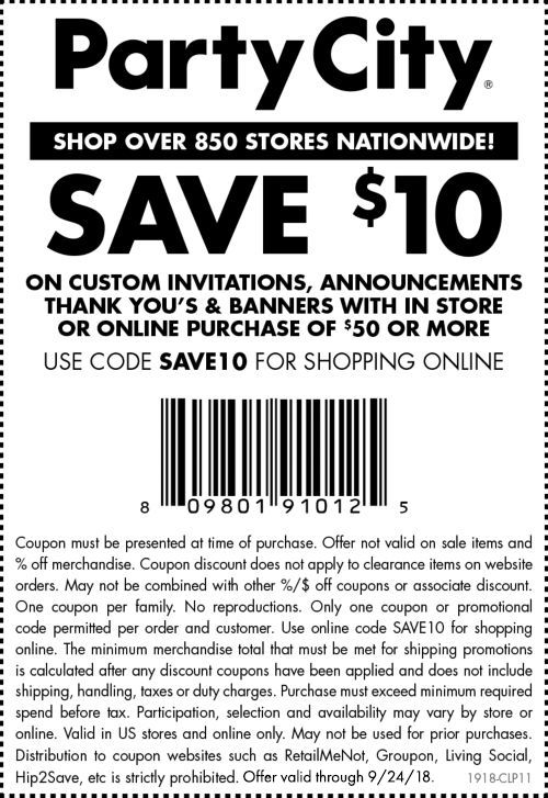 Coupons Promo Codes Party City