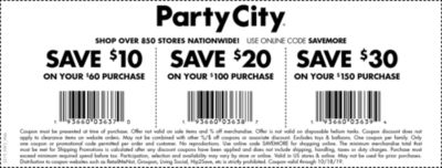 PARTY CITY COUPON 10 OFF 30