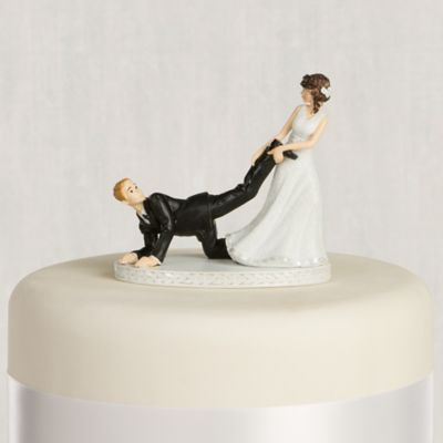 funny wedding cake figures leg puller amp groom wedding cake topper 4in city 14568