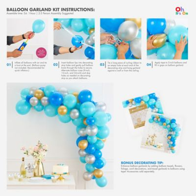 Air Filled Pastel Balloon Garland Kit Party City