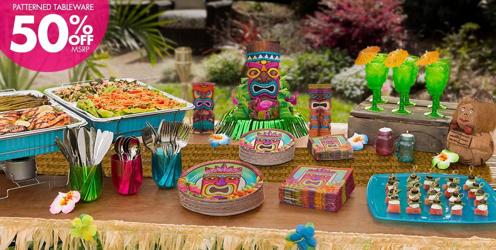Tropical Tiki Party Supplies | Party City