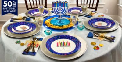 Playful Menorah Party Supplies & Playful Menorah Hanukkah Party Supplies | Party City