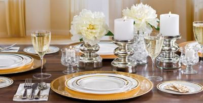 White Gold Premium Tableware & White Gold Premium Tableware | Party City