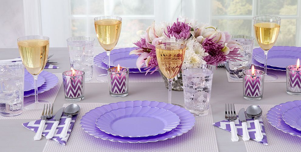 Lilac Premium Scalloped Tableware