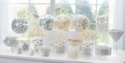 white candy buffet supplies white candy containers party city rh partycity com white candy buffet table white candy buffet bags