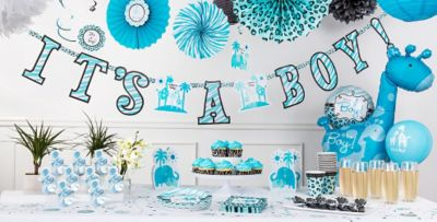 Blue Safari Baby Shower Decorations Party City