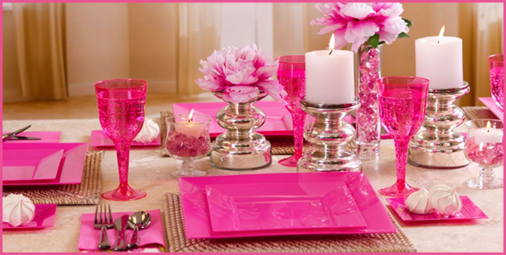 Bright Pink Premium Tableware