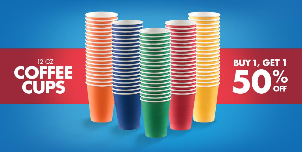 Coffee Cups — Buy One Get One 50% Off Mix &amp Match of Equal or Lesser Value