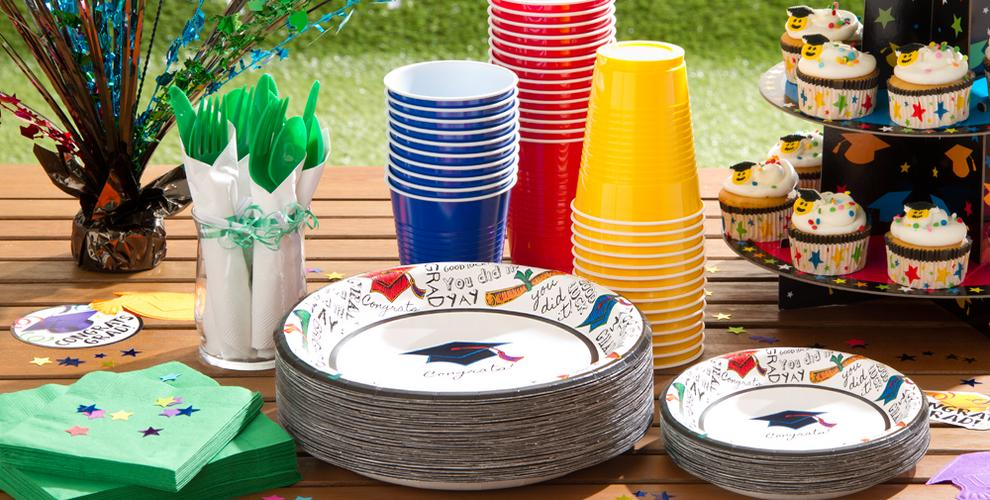 Cheerful Graduation Party Supplies