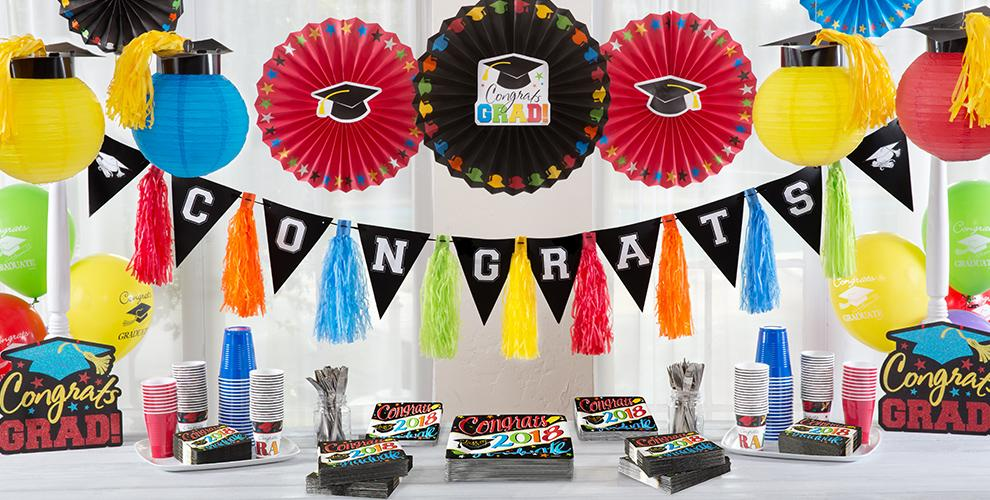 Colorful Congrats Graduate Party Supplies
