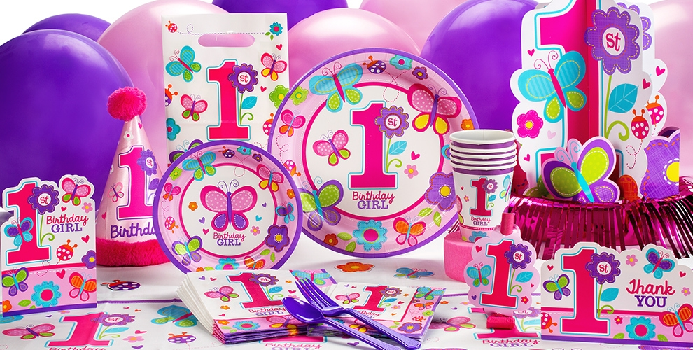 Sweet Girl 1st Birthday Party Supplies