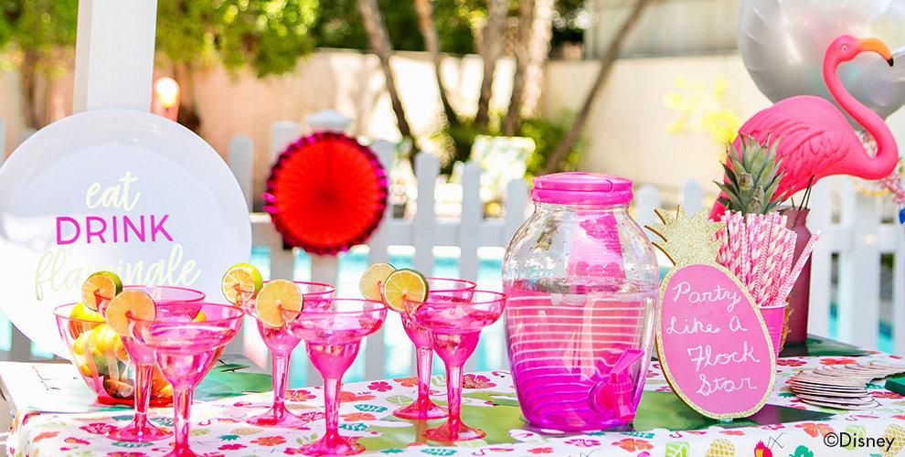 Pink Flamingo Party Drinkware